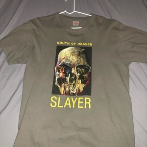 Supreme x Slayer tee Olive green